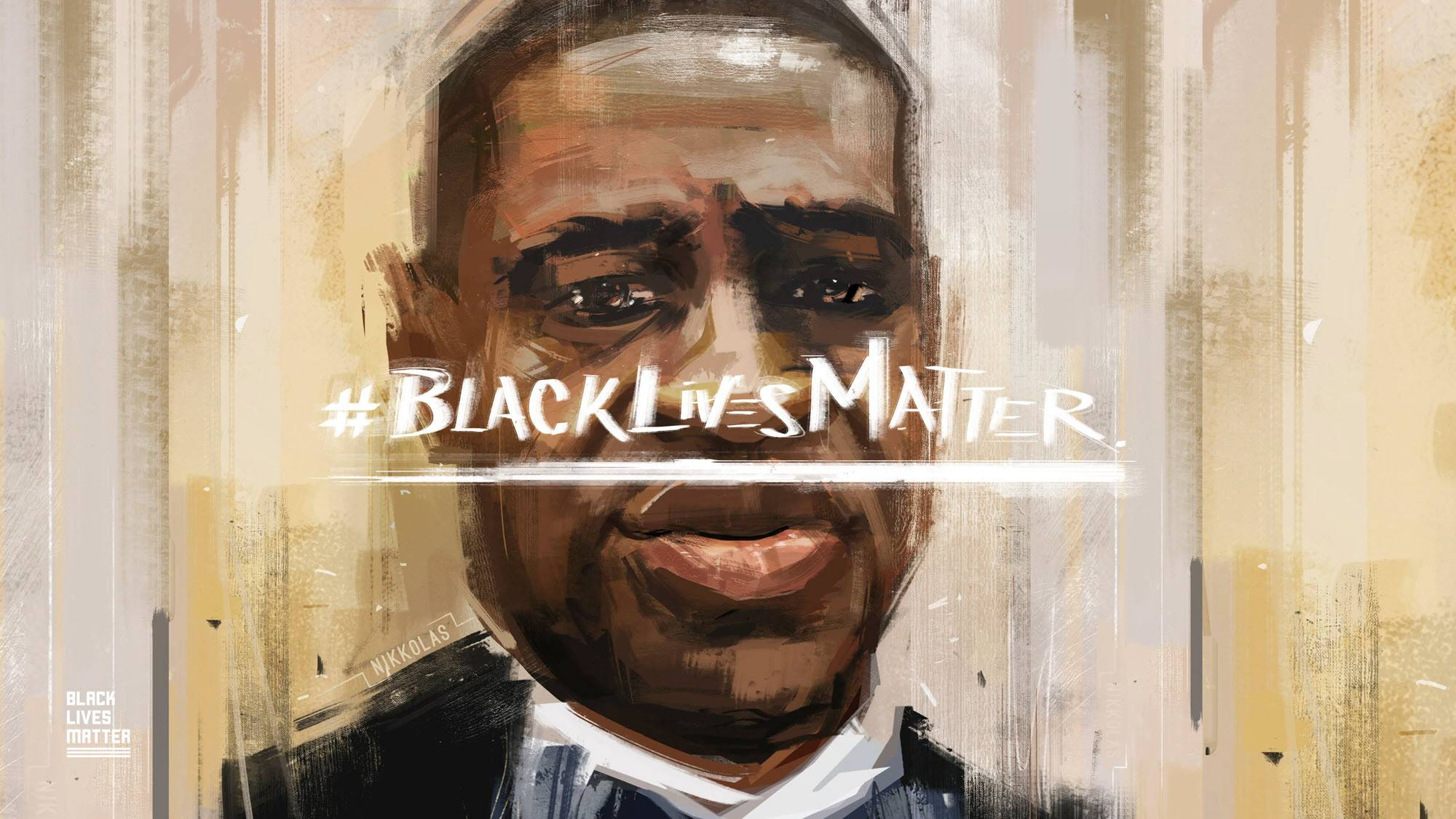 George Floyd artwork from the Black Lives Matter website